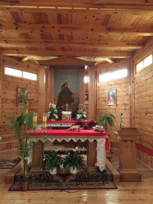 wnętrze kościoła w Sadykrzu